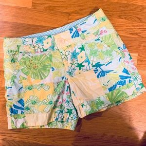 Lilly Pulitzer Alligator Patch Shorts